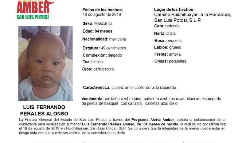 Madre de bebé secuestrado habría viajado con captores